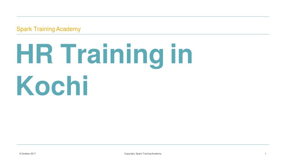 HR Certification Courses in Kochi   HR Training in Kochi